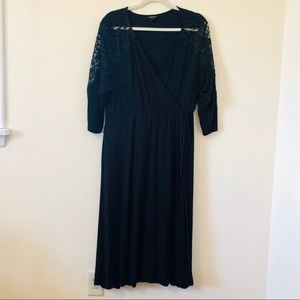 Torrid Black Lace Sleeved Dress